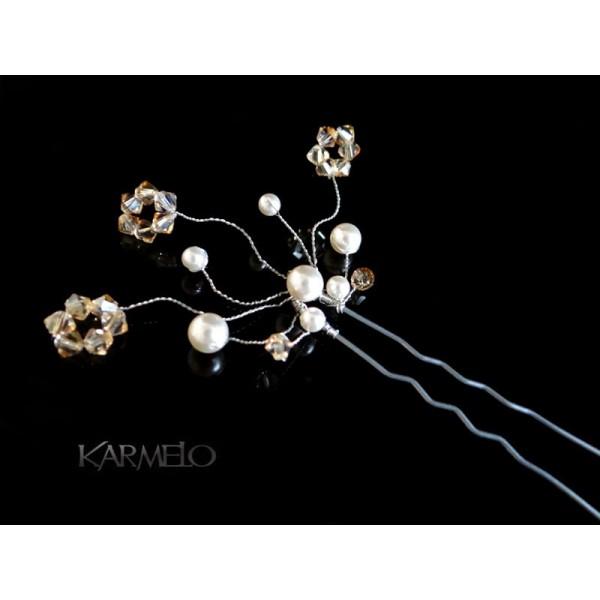 Ozdoba do włosów Kokówka z kryształami Swarovskiego® K3