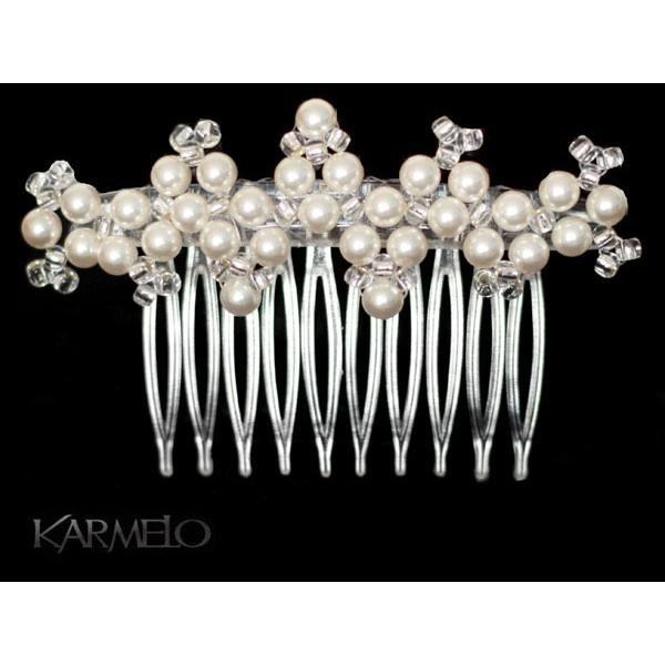 Ozdoba do włosów Grzebyk z perłami Swarovskiego® G5