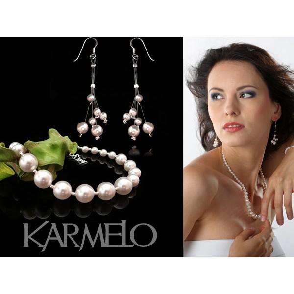 Komplet ślubny z perłami Swarovski® KP33