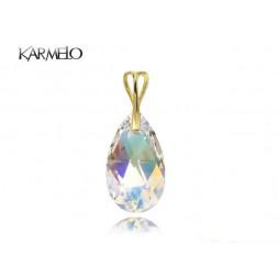 Wisiorek z kryształem Swarovski® Migdał Crystal AB