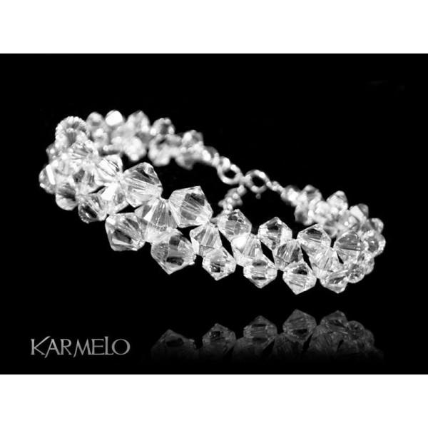 Biżuteria ślubna bransoletka kryształy Swarovski® BR132 CRYSTAL