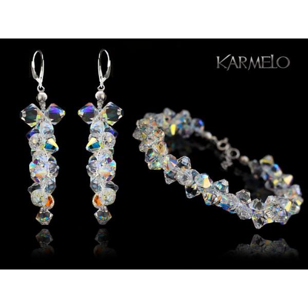 Biżuteria ślubna z kryształami Swarovski® KP131 AB