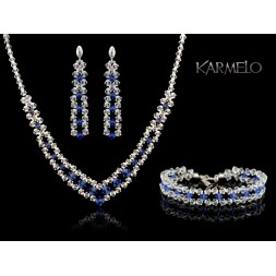 Biżuteria ślubna kryształy Swarovski®  KP55 szafir