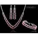 Biżuteria ślubna kryształy Swarovski®  KP55 róż