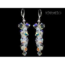Kolczyki ślubne grona  z kryształami Swarovski® KR13 AB