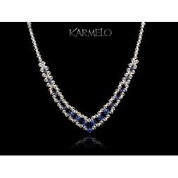 Biżuteria ślubna naszyjnik z kryształami Swarovski® NK55 szafir
