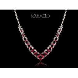 Biżuteria ślubna naszyjnik z kryształami Swarovski® NK55 róż