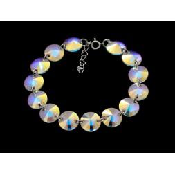 Biżuteria ślubna bransoletka kryształy Swarovski® BR167 AB- opalizująca