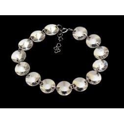 Biżuteria ślubna bransoletka kryształy Swarovski® BR167 CRYSTAL