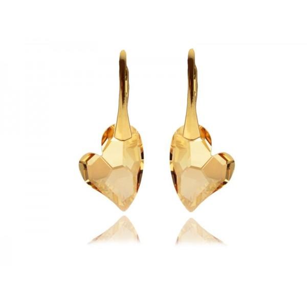 Kolczyki z kryształami Swarovski® SERCA złote KR145