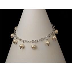 Bransoletka GRONA z perłami Swarovski® BR160 white