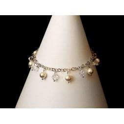 Bransoletka GRONA z perłami i kryształami Swarovski® BR160