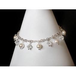 Bransoletka GRONA z perłami i kryształami Swarovski® BR161