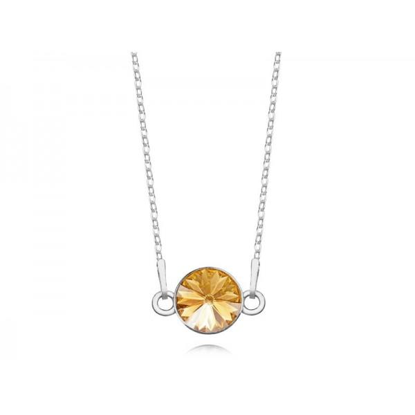 Srebrny naszyjnik celebrytka z kryształem Swarovskiego® Sunflower