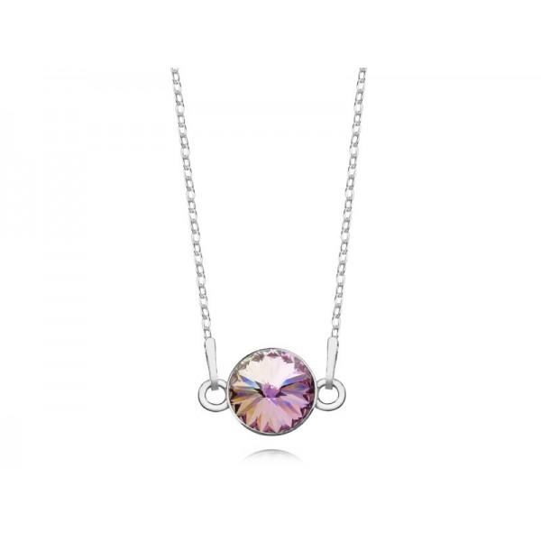 Srebrny naszyjnik celebrytka z kryształem Swarovskiego® VL- multikolor