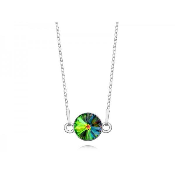 Srebrny naszyjnik celebrytka z kryształem Swarovskiego® VM- multikolor
