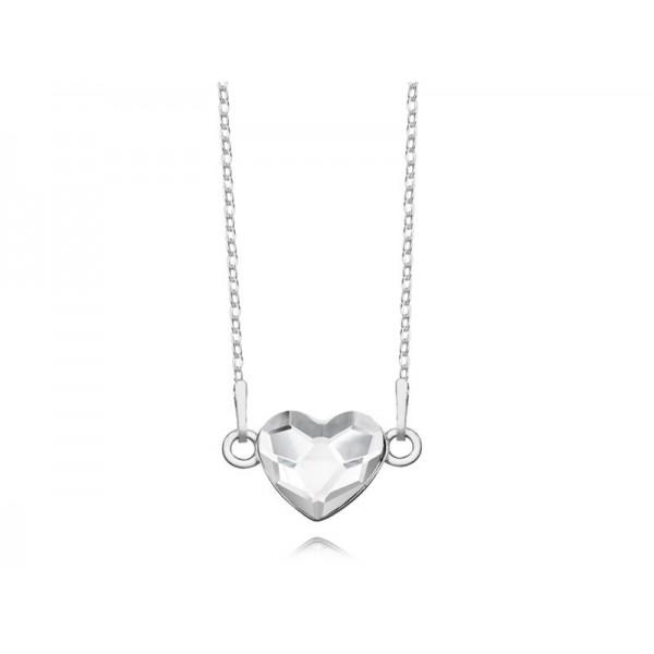Srebrny naszyjnik SERCE celebrytka z kryształem Swarovskiego® crystal