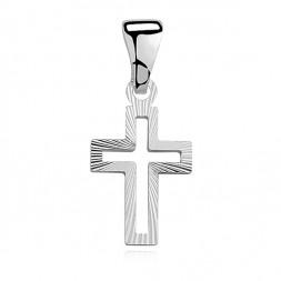 Srebrny Wisiorek Krzyżyk