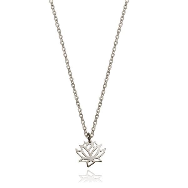 Srebrny naszyjnik Kwiat Lotosu rodowany