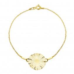 Srebrna bransoletka Rozetka ażurowa pozłacana 24K złotem