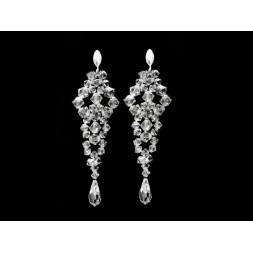 Biżuteria ślubna z kryształkami Swarovski® KP403 golden shadow