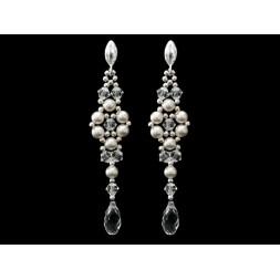 Biżuteria ślubna z kryształami Swarovski wisiorek wr48