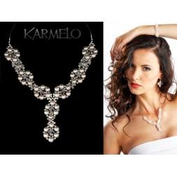 Biżuteria ślubna naszyjnik z perłami Swarovskiego® NK20