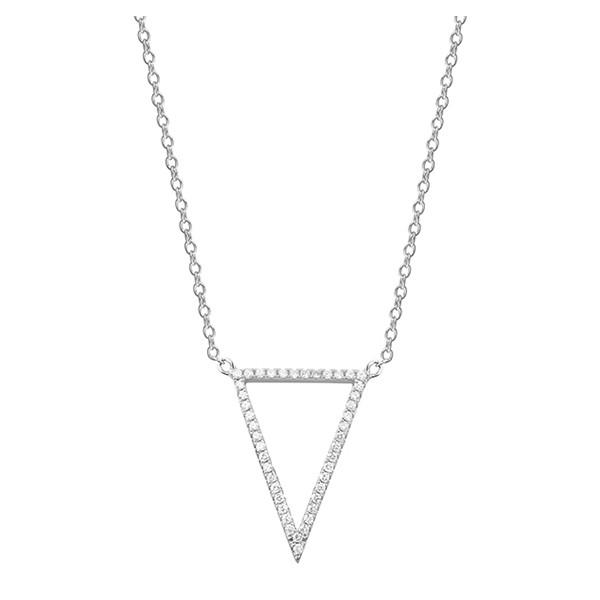 Srebrny naszyjnik pr.925 trójkąt z cyrkoniami