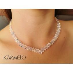 Naszyjnik do ślubu z kryształami Swarovskiego® NK140 AB