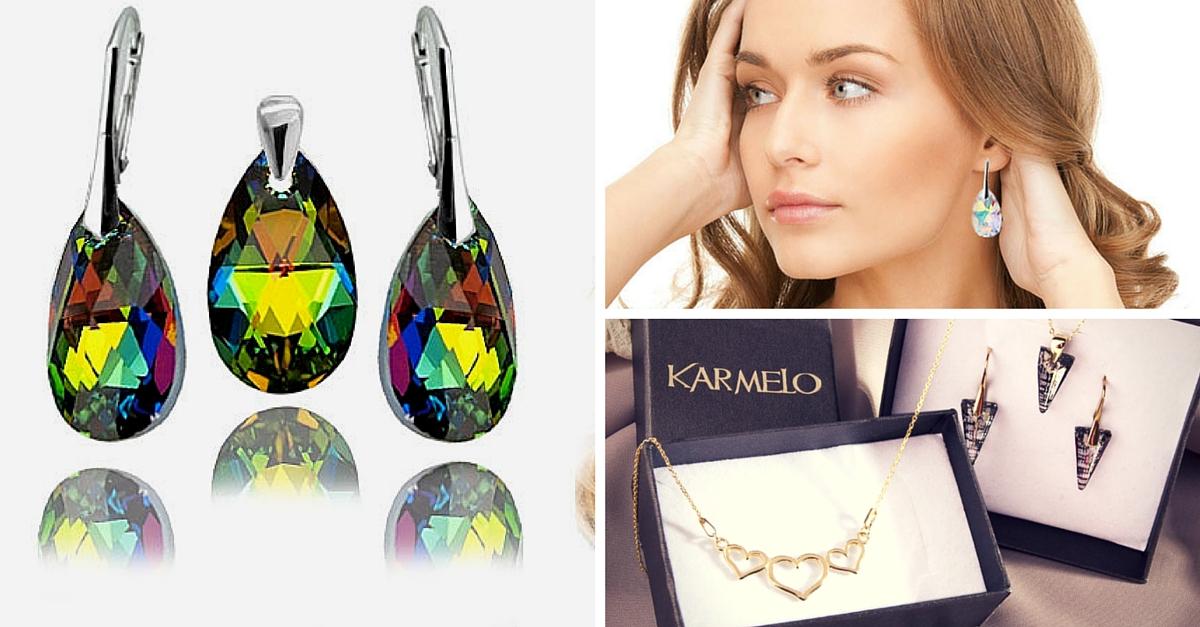 prezent dla żony -biżuteria srebrna, swarovski