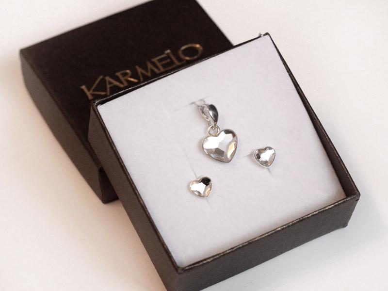 prezent na Mikołaja - biżuteria serca swarovski