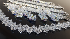 Komplet do Ślubu z kryształami